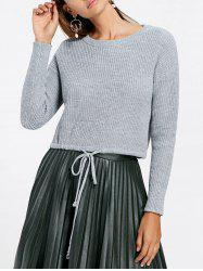 Crew Neck Cropped Sweater -