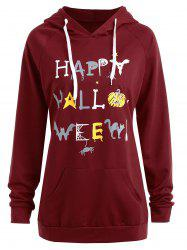 Plus Size Happy Halloween Pumpkin Hoodie -