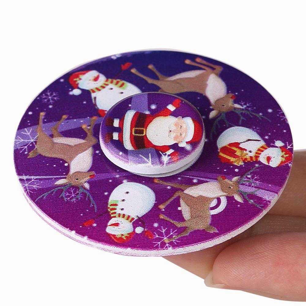 Christmas EDC Toy Round Hand SpinnerHOME<br><br>Color: PURPLE; Products Type: Fidget Spinner; Frame material: Metal; Features: Creative Toy; Weight: 0.0900kg; Package Contents: 1 x Fidget Spinner;