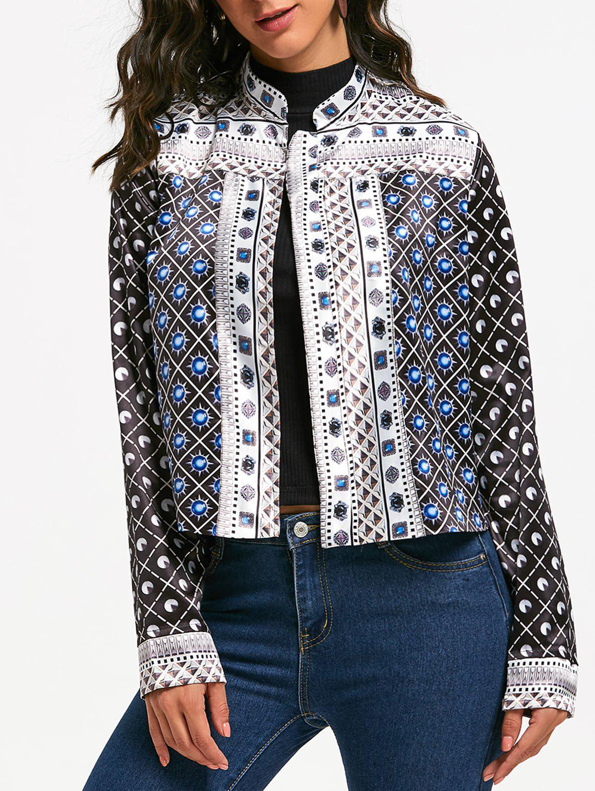 Fashion Printed Crop Jacket