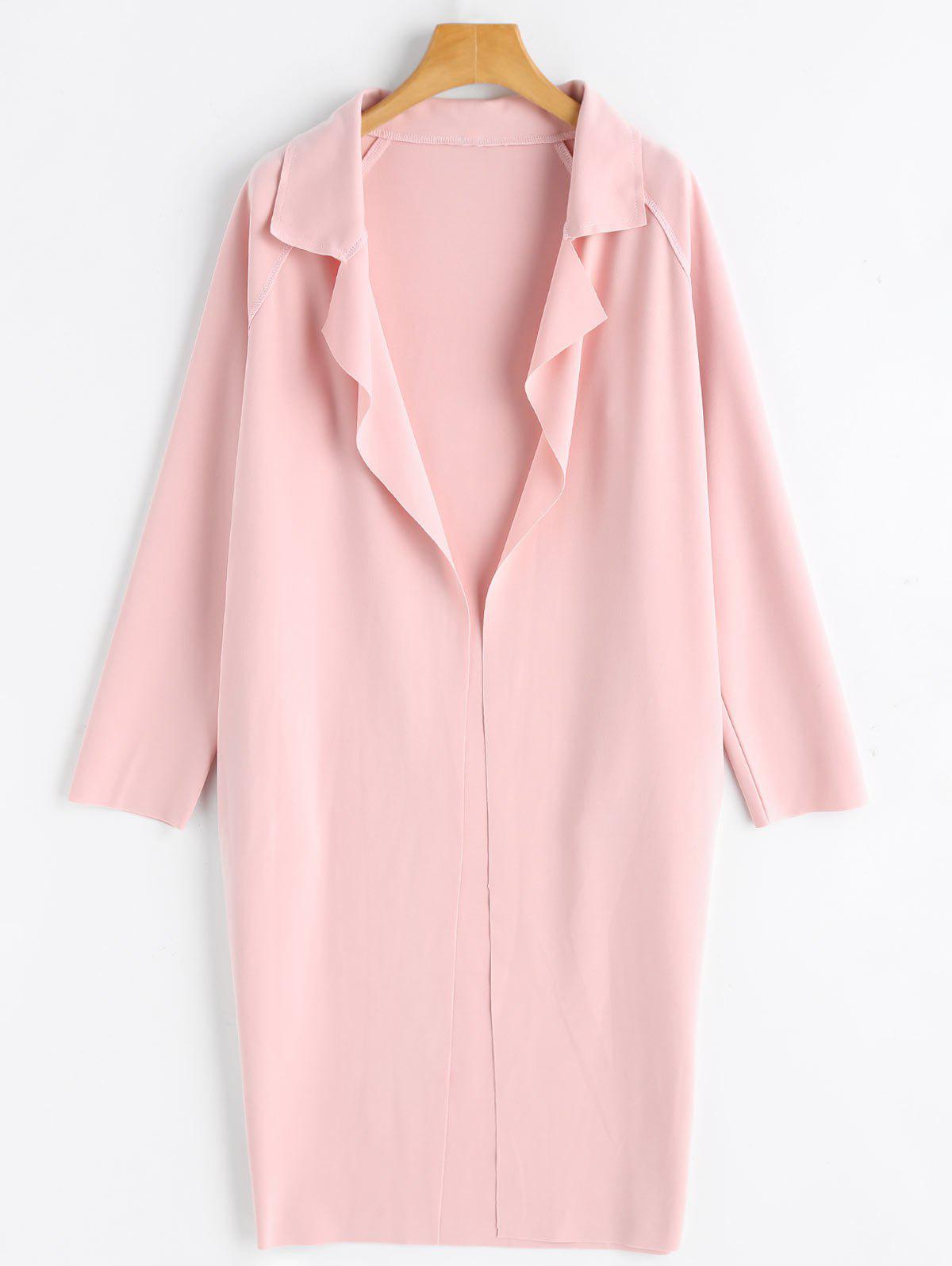 Outfits Raglan Sleeve Open Front Long Coat