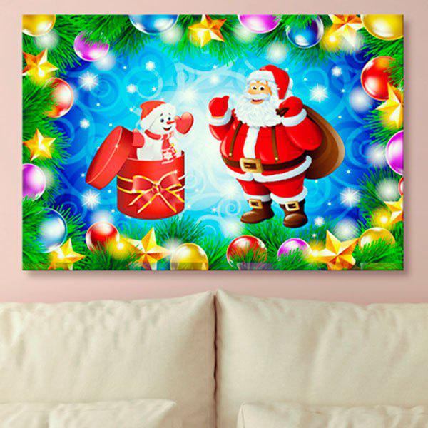 2018 Santa Claus Print Wall Art Christmas Canvas Painting In Ice ...