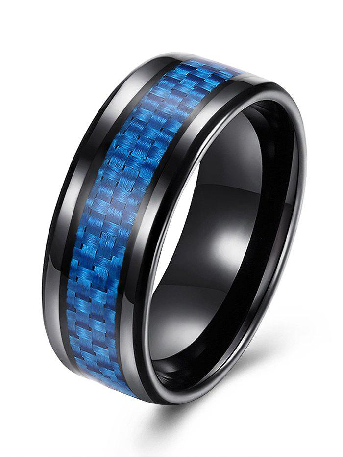Weaving Shape Round Alloy RingJEWELRY<br><br>Size: 7; Color: BLUE; Gender: For Men; Metal Type: Alloy; Style: Trendy; Shape/Pattern: Round; Weight: 0.0200kg; Package Contents: 1 x Ring;