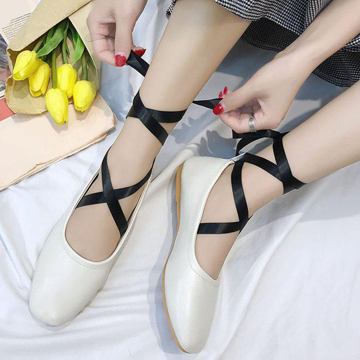 Chaussures plates Criss Cross Strap Lace Up