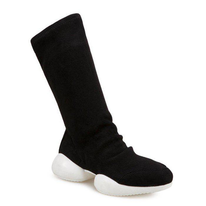Shop Slip On Faux Suede Mid Calf Boots