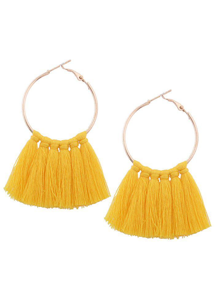 Shop Alloy Tassel Circle Hoop Earrings