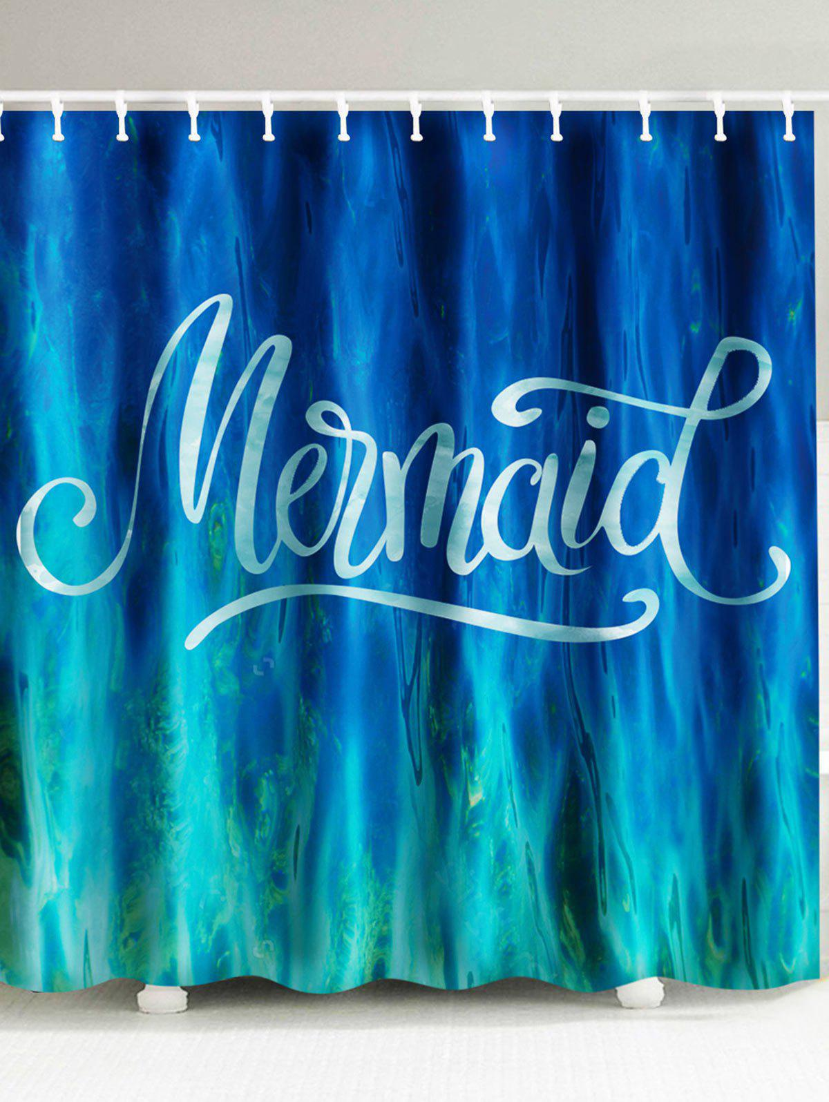 New Sea Mermaid Water Resistant Shower Curtain