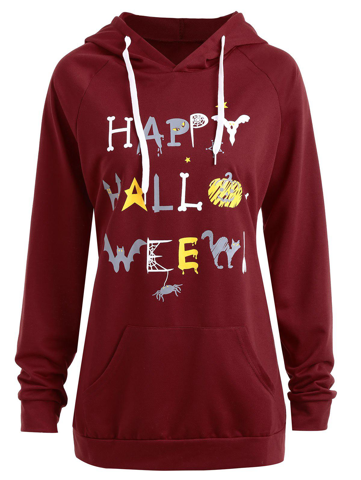 Sale Plus Size Happy Halloween Pumpkin Hoodie