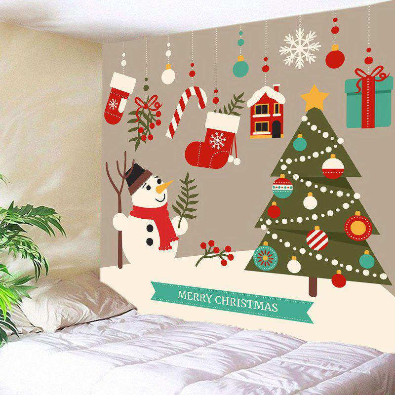 Store Merry Christmas Cartoon Print Tapestry Wall Hanging Art Decoration
