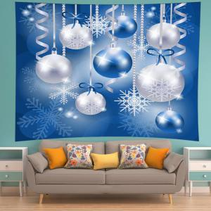 Christmas Balls Snowflake Print Tapestry Wall Hanging Art Decoration -