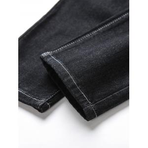 Low Slung Crotch Harem Jeans - BLACK 30