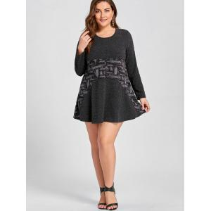 Contraste Plus Size Mini A Line Dress -