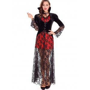 Devil Queen Velvet Halloween Costume -