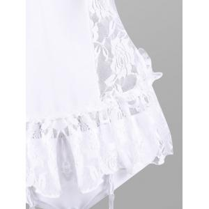 Flounce Lace Bride Babydoll Costume - WHITE ONE SIZE
