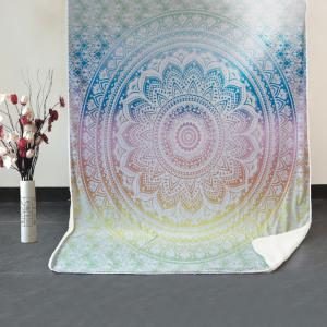 Bohemian Mandala Pattern Fleece Thermal Blanket -