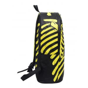Skull Striped Noctilucence Backpack - YELLOW