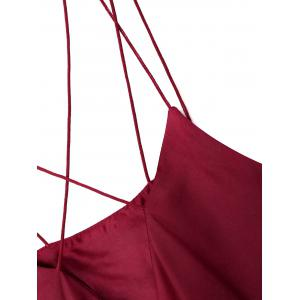 Satin Cami Sleepwear Ropmer - WINE RED XL