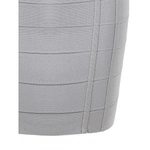 V Neck Sleeveless Club Bandage Dress - GRAY S