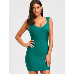 Sweetheart Open Back Sleeveless Bandage Dress -