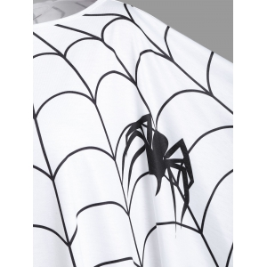 Halloween Spider Web Plus Size Poncho Blouse -