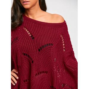Oversized Batwing Sleeve Tunic Chunky Sweater -