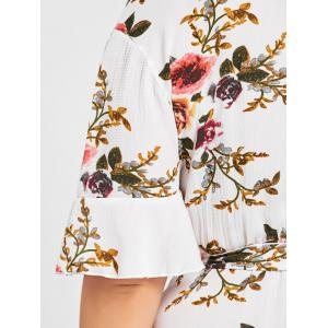 Floral Plus Size Belted Short Dress -