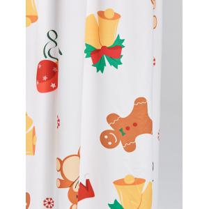 Christmas Snowflake Bell Bear Print Maxi Dress -