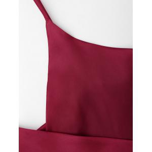 Wrap Satin Slip Dress -