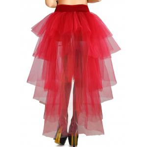 Tiered High Low Halloween Skirt -