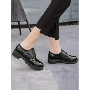 Brogues Wingtip Contraste Color Flat Shoes -