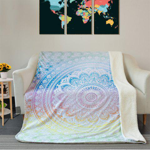 Best Bohemian Mandala Pattern Fleece Thermal Blanket