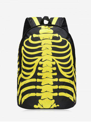 Outfit Skull Striped Noctilucence Backpack YELLOW