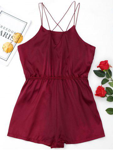 Buy Satin Cami Sleepwear Ropmer WINE RED XL