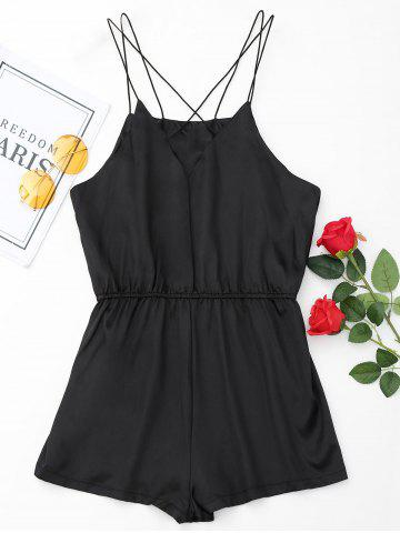 Shops Satin Cami Sleepwear Ropmer - L BLACK Mobile