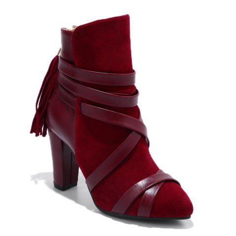 Chic Tassel Criss Cross Ankle Boots