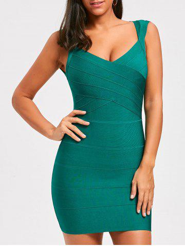 Chic Sweetheart Open Back Sleeveless Bandage Dress