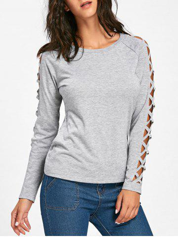 Online Cut Out Raglan Sleeve Plain T-Shirt