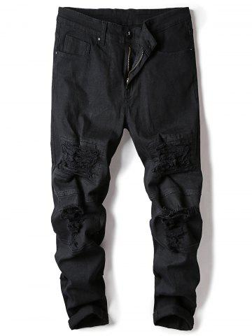 Affordable Classical Straight Leg Ripped Jeans
