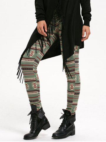 Chic Geometric Print High Waist Leggings