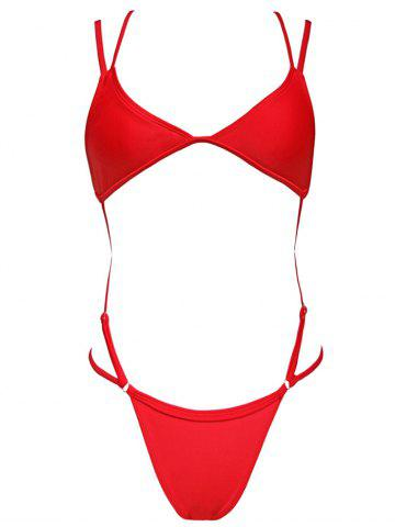 Strappy Cross Back One Piece Swimwear