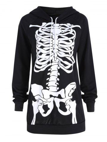 Latest Halloween Plus Size Skeleton Printed Hoodie