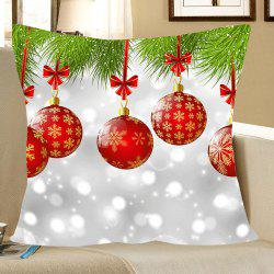 Christmas Baubles Pattern Linen Pillow Case -