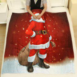 Christmas Santa Claus Pattern Flannel Throw Blanket -