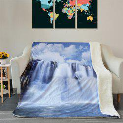 Waterfall Pattern Soft Fleece Thermal Blanket -