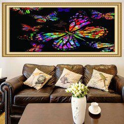 Multifunction Colored Butterflies Printed Stick-on Wall Art Painting -