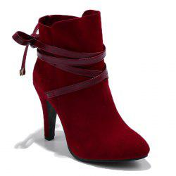 Criss Cross Stiletto Ankle Boots -