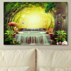 Wonderland Print Wall Art Unframed Canvas Painting -