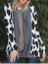 Leopard Long Sleeve Open Front Cardigan -