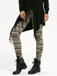 Geometric Print High Waist Leggings -