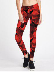 Skinny Print Running Yoga Leggings -